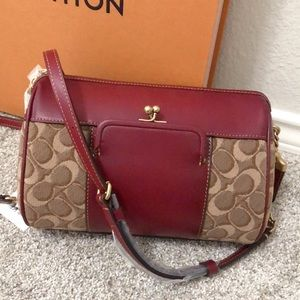 NWT Coach signature C design Joni crossbody bag